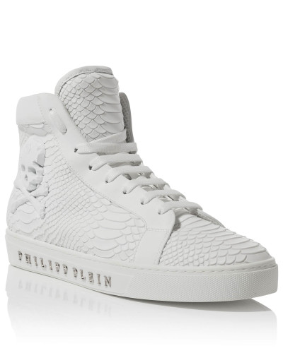 "Philipp Plein Herren Hi-Top Sneakers ""Drinking fast"""