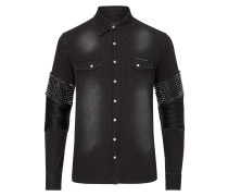 "long sleeves denim shirt ""Soul brother"""