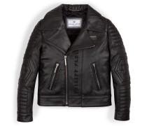 "leather biker jacket ""skull"""