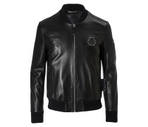 """Leather Bomber """"Draw"""""""