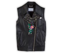 """Leather vest """"Flower skull"""""""