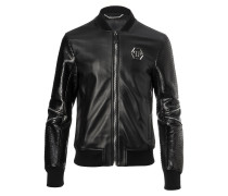 """Leather Bomber """"Tian"""""""