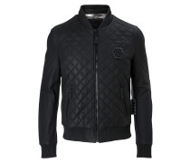 """Leather Bomber """"Moon"""""""