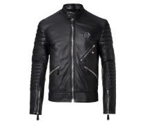 "Leather Moto Jacket ""Dark Car"""