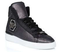 "Hi-Top Sneakers ""skull silver"""