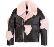 """leather jacket """"supergirl fur"""""""