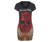 """T-Shirt Short Dresses """"Black Leona"""""""