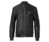 "leather bomber ""combination"""
