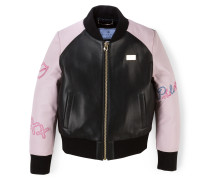 """Leather Bomber """"Love"""""""