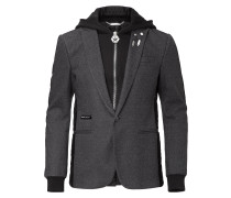 "hooded blazer ""elastic"""