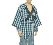 Stylish Silk Kurzer Kimono-Morgenmantel