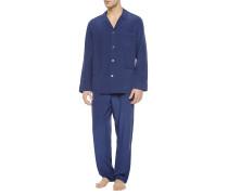 Silk Way Pyjama Mit Durchgehender Knopfleiste