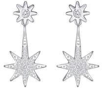 Fizzy Earring Jackets Weiss Rhodiniert