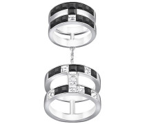 Atelier  by Viktor and Rolf, Frozen Crystals Double Ring Schwarz