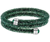 Crystaldust Armreif Double, Green Grün Edelstahl