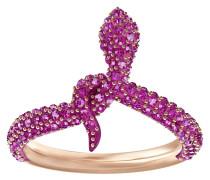 Leslie Ring, fuchsia, rosé Vergoldung