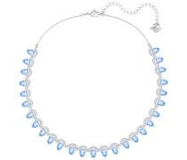 Gallery Pear Halskette, blau Blau Rhodiniert