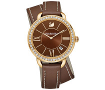 Swarovski Aila Day Double Tour Uhr, Brown Weiss vergoldet