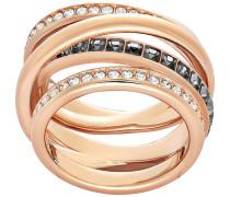 Dynamic Ring Grau Rosé vergoldet