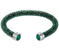 Crystaldust Armreif, Green Grün Edelstahl