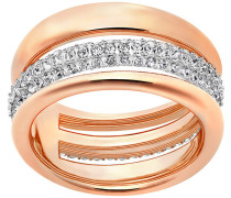 Exact Ring Weiss Rosé vergoldet