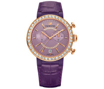Citra Sphere Chrono Uhr, Violet Weiss Rosé vergoldet