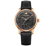 Swarovski Crystalline Hours Uhr, Black Weiss Rosé vergoldet