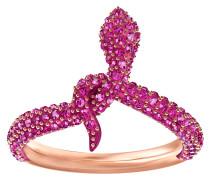 Leslie Ring, fuchsia, Rosé vergoldet