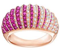 Luxury Domed Ring, rosa, rosé Vergoldung