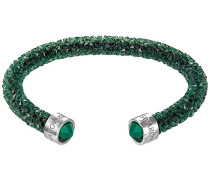 Crystaldust Armreif, grün Grün Edelstahl