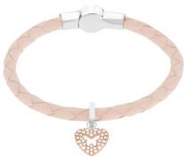 Swarovski Butterfly Heart Charm Set Rosa