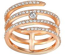 Creativity Coiled Ring Weiss Rosé vergoldet
