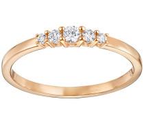 Frisson Ring Weiss Rosé vergoldet
