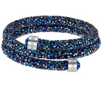 Crystaldust Doppel-Armreif, blau, Edelstahl Blau Edelstahl