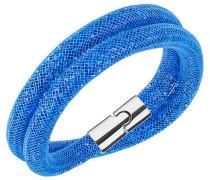 Stardust Capri Blue Double Armband Blau Rhodiniert