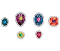 Luminous Fairy Pin Set, mehrfarbig, rhodiniert Mehrfarbig dunkel Rhodiniert