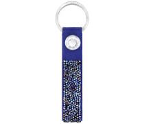 Glam Schlüsselanhänger, blau Edelstahl
