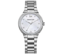 City Mini Uhr, Mother-of-Pearl Weiss Edelstahl