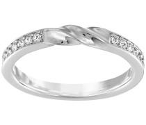 Curly Ring Weiss Rhodiniert