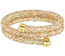 Crystaldust Doppel-Armreif, goldfarben, vergoldet Braun vergoldet