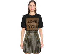 T-SHIRT AUS JERSEY 'LOVE YOU MORE'