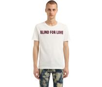T-SHIRT AUS BAUMWOLLJERSEY 'BLIND FOR LOVE'