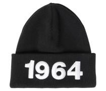 BEANIEMÜTZE AUS WOLLE MIT 1964-PATCHES