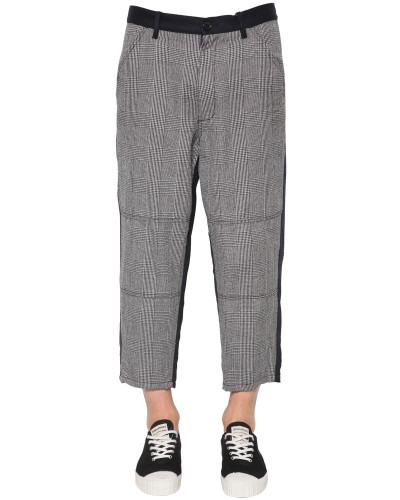 WOOL HOUNDSTOOTH & CARDED WOOL PANTS