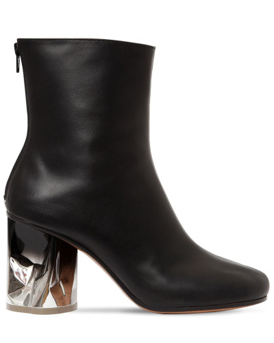 80MM HOHE LEDERSTIEFEL 'CRUSCHED'