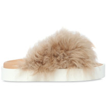 30MM HOHE PANTOFFELN AUS SHEARLING