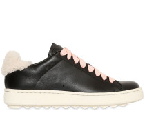 20MM HOHE SNEAKERS AUS LEDER UND SHEARLING