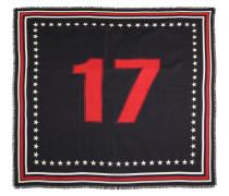 SCHAL AUS WOLLE UND SEIDE MIT '17'-FLAGGE