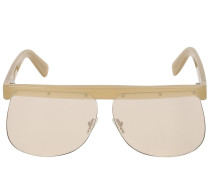 THE MASK KHAKI ACETATE SUNGLASSES