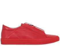 SLIP ON-SNEAKERS AUS LEDER MIT ZIP 'NERONE'